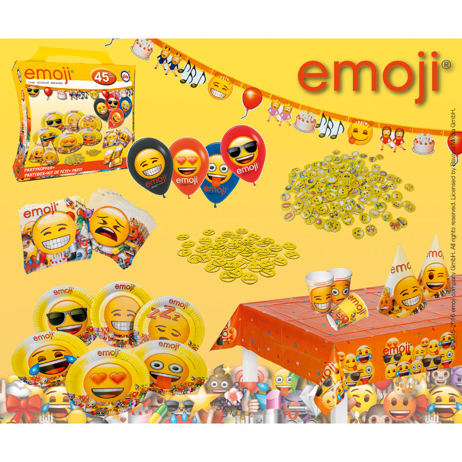 Happy People emoji® Party-Set Emoji