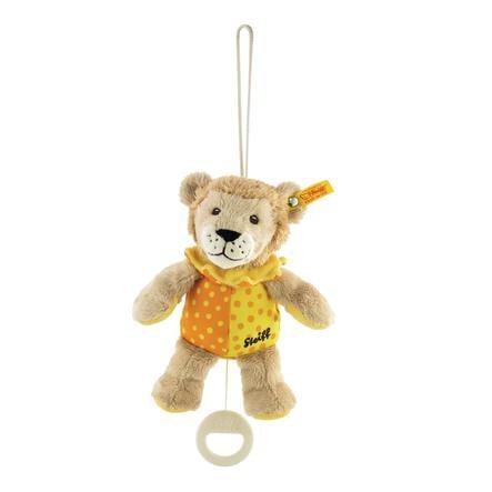 Steiff Hrací lev Leon béžovo/žluto/oranžový 20 cm