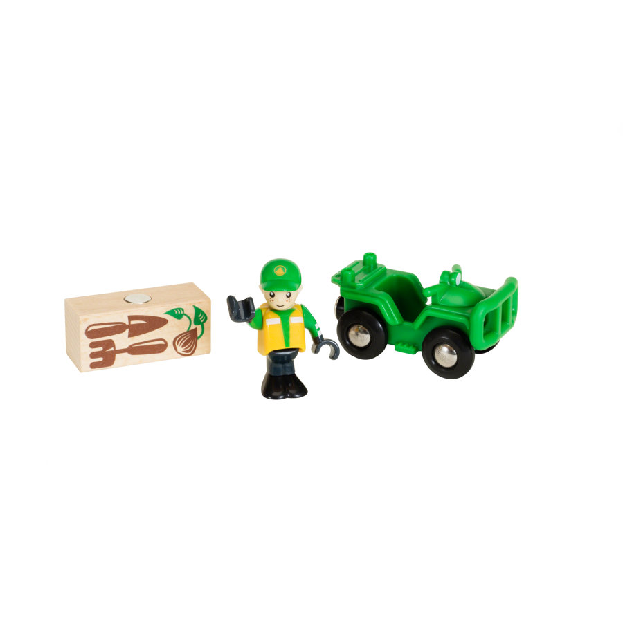 BRIO® WORLD Waldarbeiter-Quad 33798