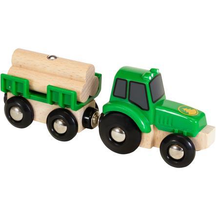 BRIO WORLD Tractor con remolque de madera 33799