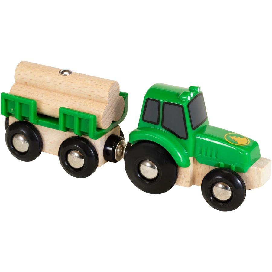 BRIO Tractor met houten aanhanger 33799