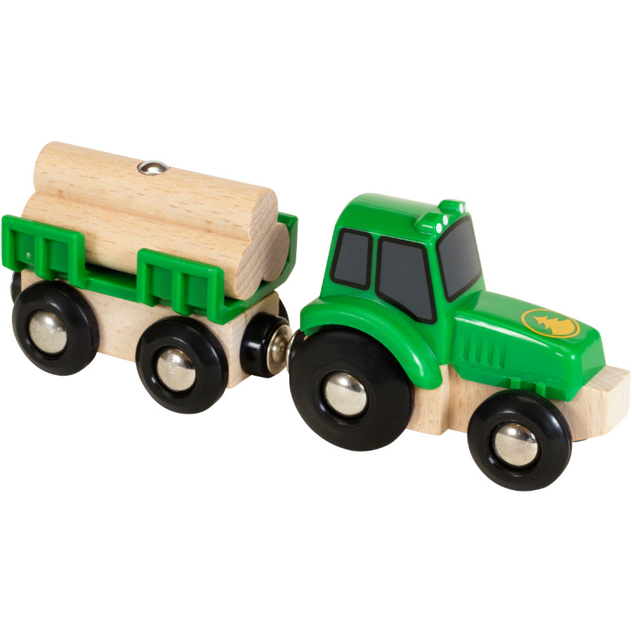 BRIO® WORLD Traktor mit Holz-Anhänger 33799