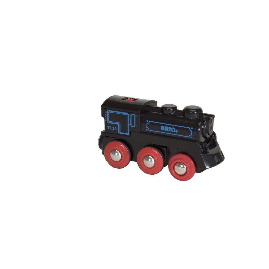 BRIO Černá lokomotiva se zdrojem a mini USB 33599