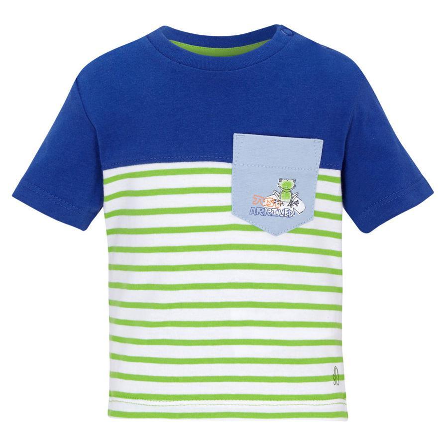 s.OLIVER Boys Baby Bluzka z krótkim rękawkiem green stripes