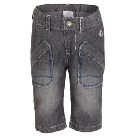 s.OLIVER Boys Mini Bermuda en jean, denim gris