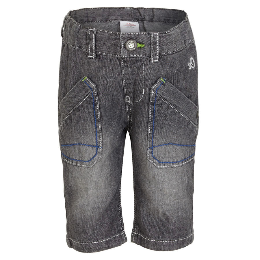 s.OLIVER Boys Mini Jeans Bermudy grey denim