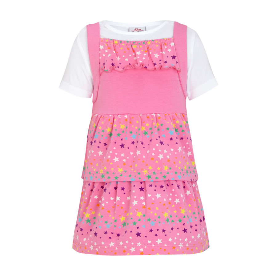 s.OLIVER Girls Mini Sukienka pink