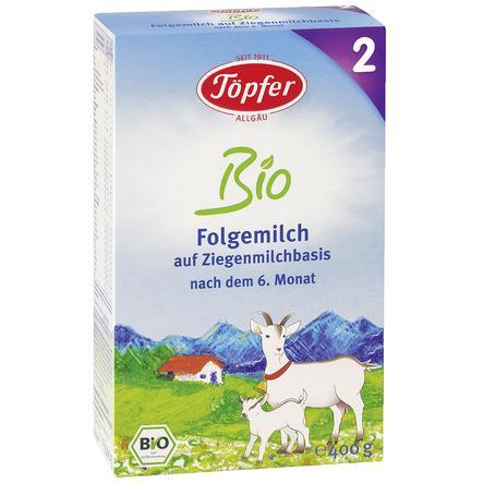 Töpfer Bio Folgemilch 2 auf Ziegenmilchbasis 400 g