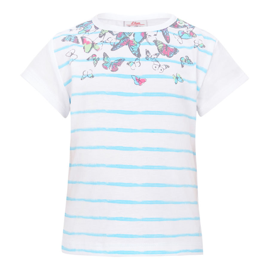 s.OLIVER Girls Mini T-shirt, blanc