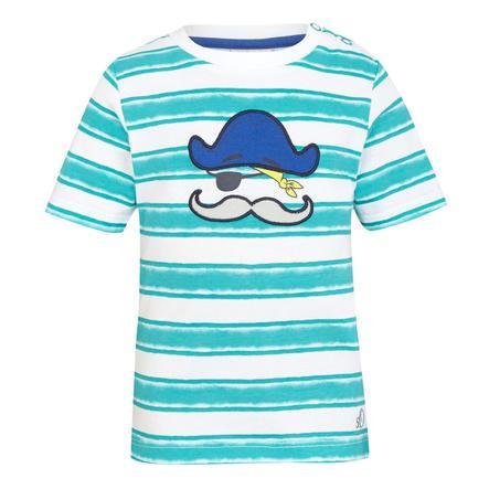 s.OLIVER Boys Mini T-shirt, rayures, bleu/vert