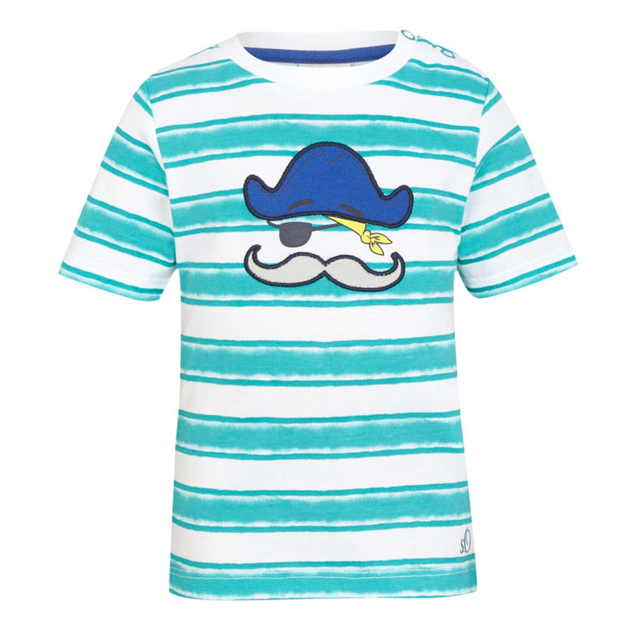 s.OLIVER Boys Mini Tričko blue-green-stripes