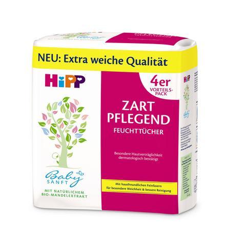 HiPP Babysanft Feuchttücher Zart Pflegend 4 x 56 Stück