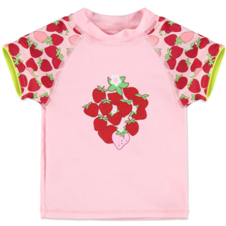 anna & tom Girls T-shirt de bain à protection UV avec motif de fraise, rose