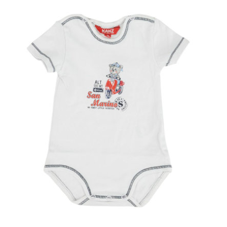 KANZ Boys Baby Body 1/4 Arm bright white