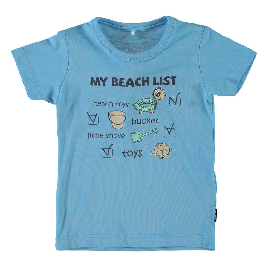 NAME IT Boys Baby T-Shirt IGAL blue grotto