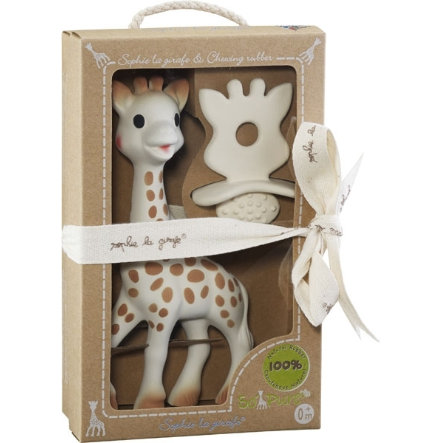 VULLI So Pure Sophie la Girafe - 1 Succhietto e 1 massaggiagengive, Confezione regalo
