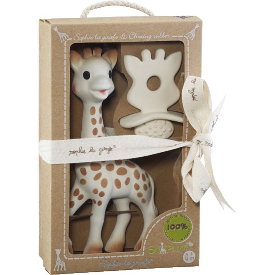 VULLI So Pure Sophie la Girafe - Sophie la Girafe,  1 Schnuller und Zahnungshilfe, Geschenkset