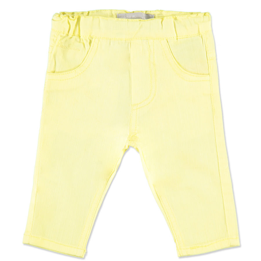 NAME IT Girls Pantalon bébé HELLE, jaune elfe