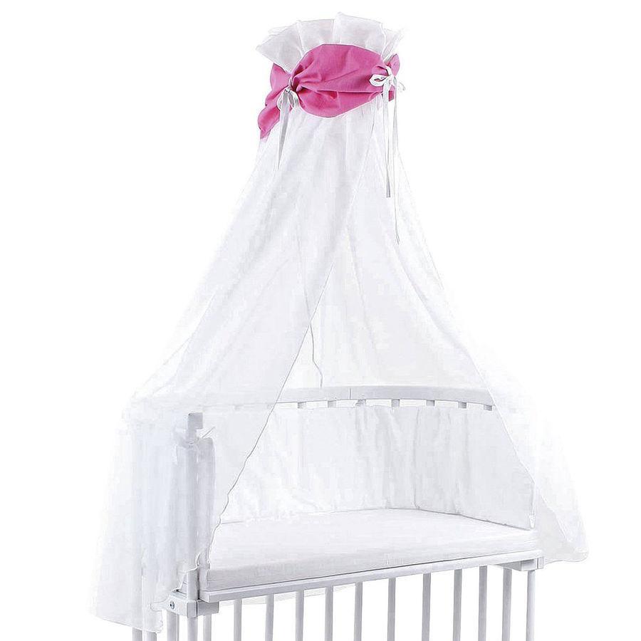 TOBI Babybay Sänghimmel rosa/vit