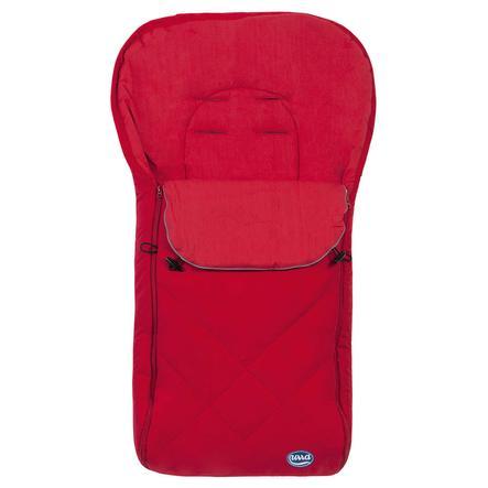 URRA Sommer Fußsack groß mit Logo rot