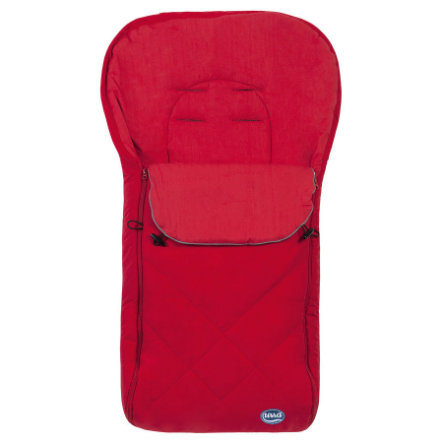 URRA Summer Footmuff large with Logo red