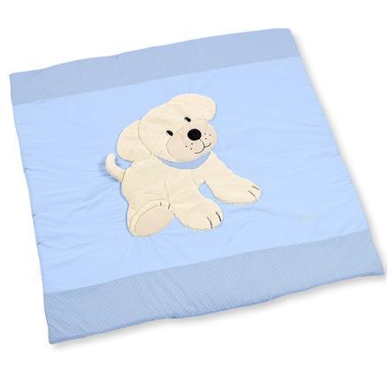 Sterntaler Krabbeldecke Hund Hardy blau 100 x 100 cm