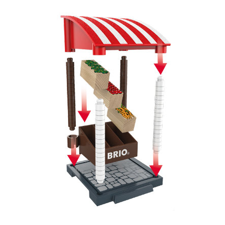 BRIO® WORLD Village Marktstand 33946