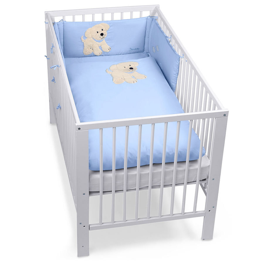 sterntaler bett set hund hardy blau baby. Black Bedroom Furniture Sets. Home Design Ideas