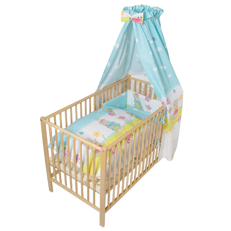 Fillikid Beddengoed set Basic turquoise