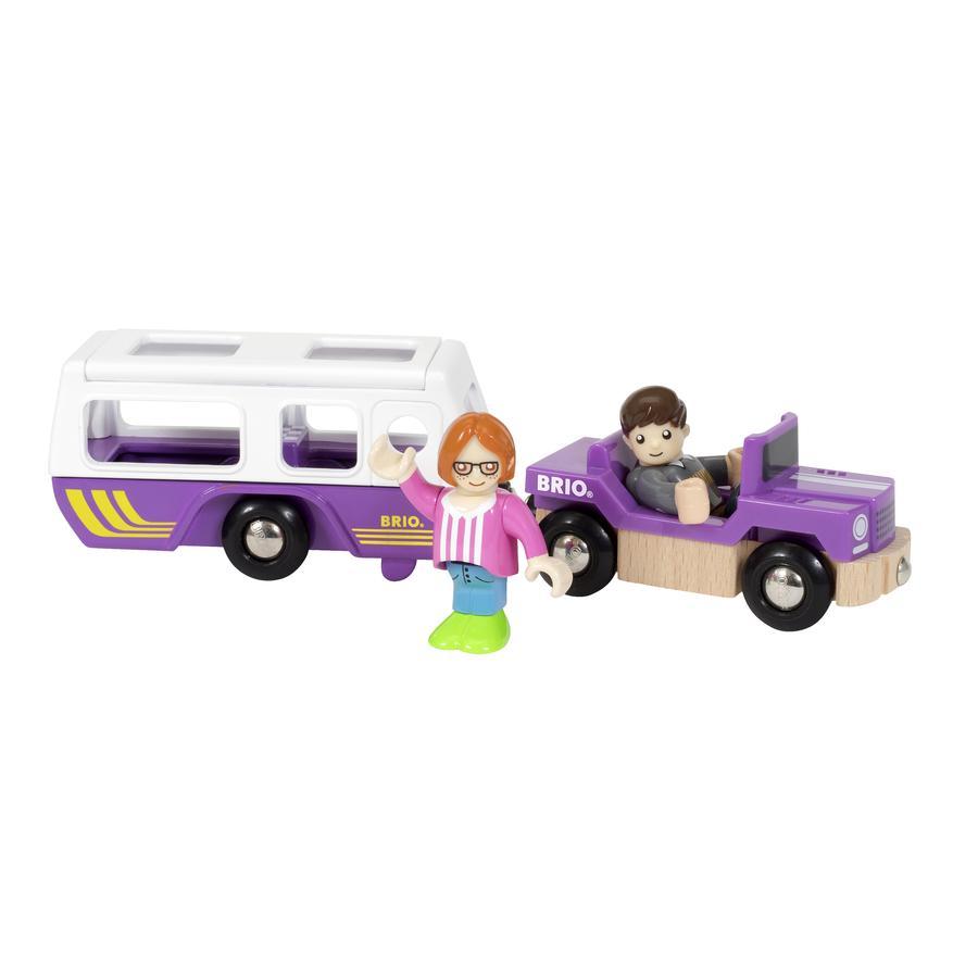 BRIO® WORLD Village SUV mit Wohnwagen 33949