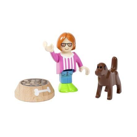 BRIO Figur med hund 33952