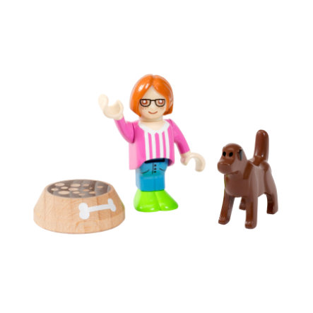 BRIO® WORLD Village Kind mit Hund 33952