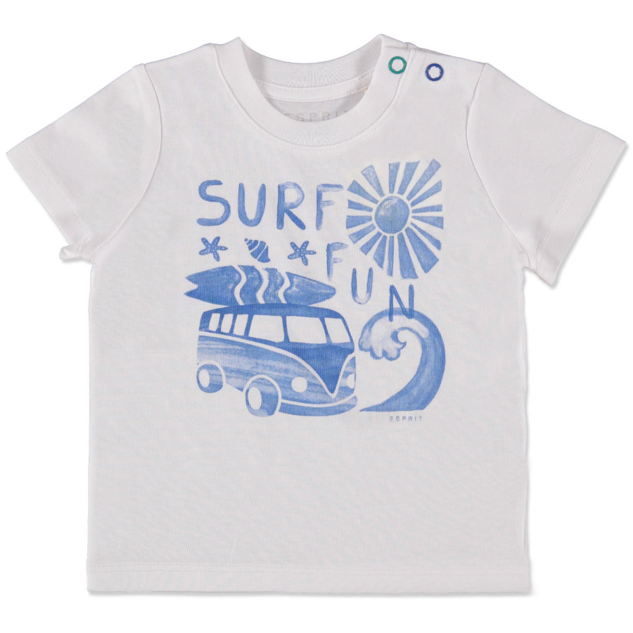 ESPRIT Boys Surf Fun T-Shirt weiß