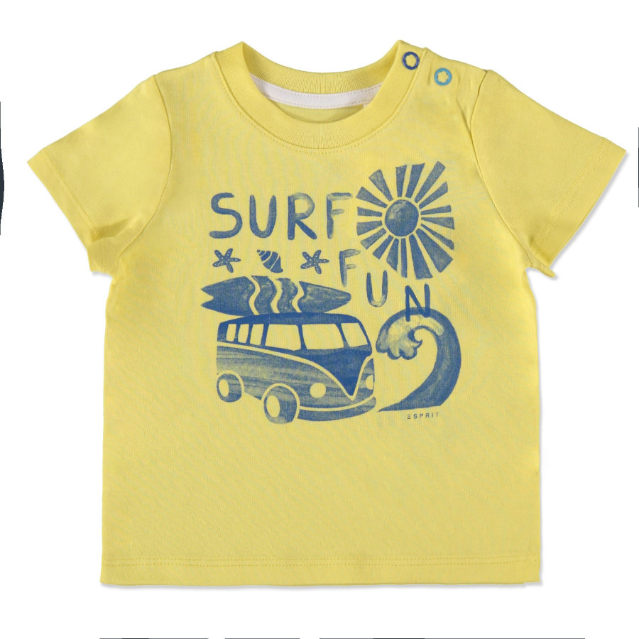 ESPRIT Boys Surf Fun T-Shirt gelb