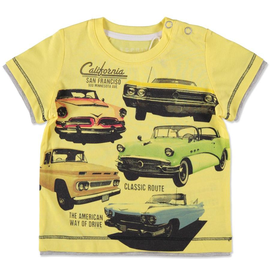 ESPRIT Boys Voitures T-Shirt jaune
