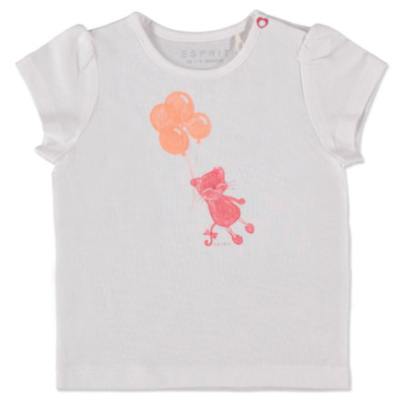 ESPRIT Girls T-Shirt Cat weiß