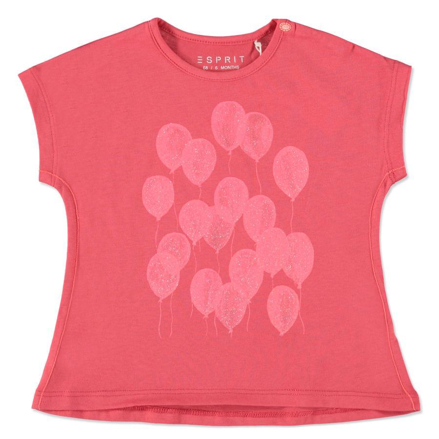 ESPRIT Girls T-Shirt Ballon korallrot