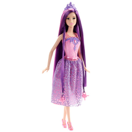 MATTEL Barbie Princesse chevelure magique, violet