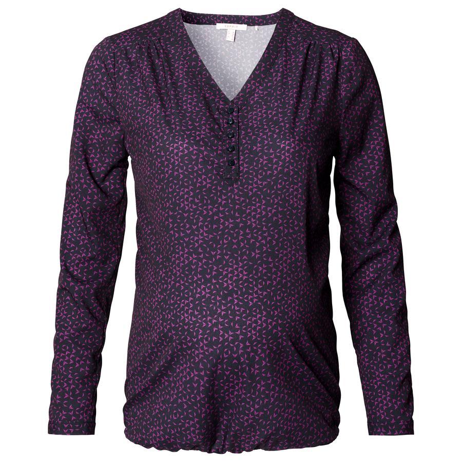 ESPRIT blouse circonstance bleu foncé