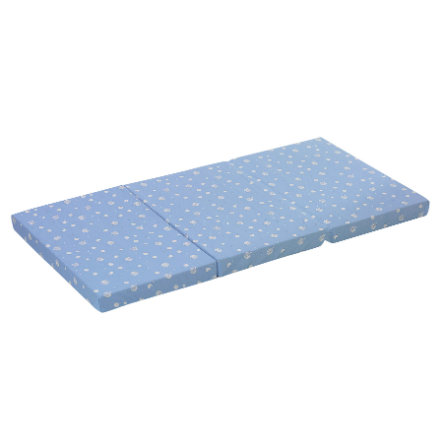 alvi matelas de lit parapluie 60 x 120 cm bleu. Black Bedroom Furniture Sets. Home Design Ideas