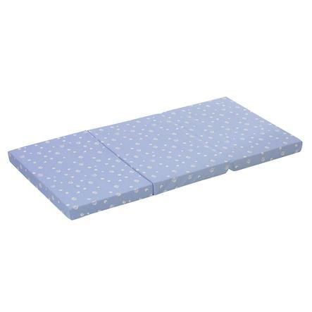 Alvi® Matelas de lit parapluie 60x120 cm, bleu