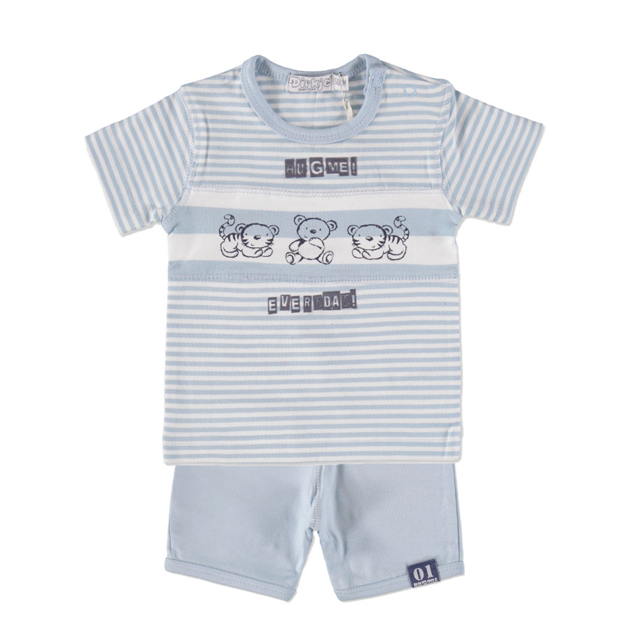 Dirkje Boys Komplet 2-częśćiowy large stripe/light blue