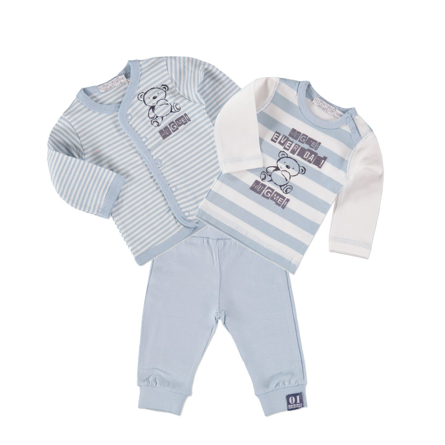 Dirkje Boys Set 3-tlg. small stripe/light blue