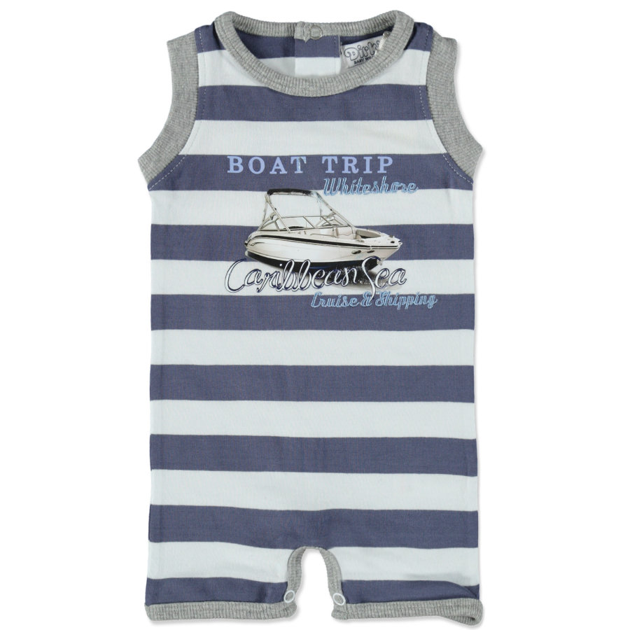 Dirkje Boys Rampersy steel blue stripe