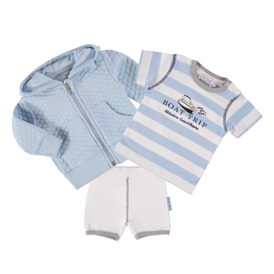 Dirkje Boys Set 2-tlg. lightblue stripe/white