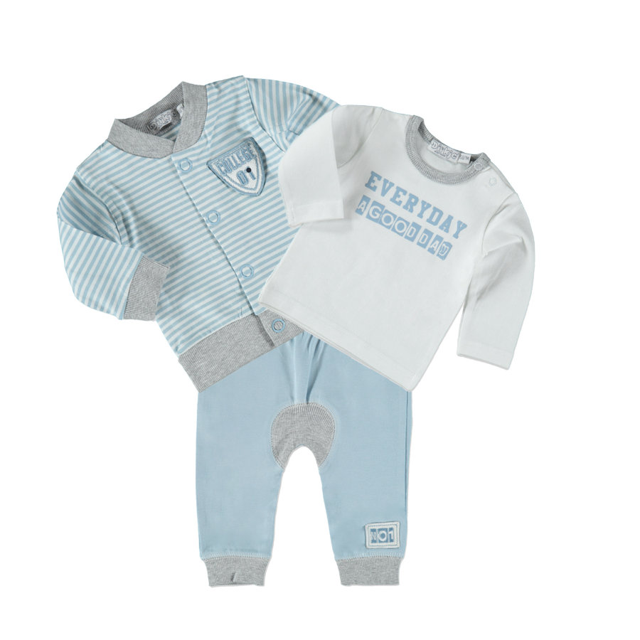 Dirkje Boys Set 3-tlg. light blue stripe/white