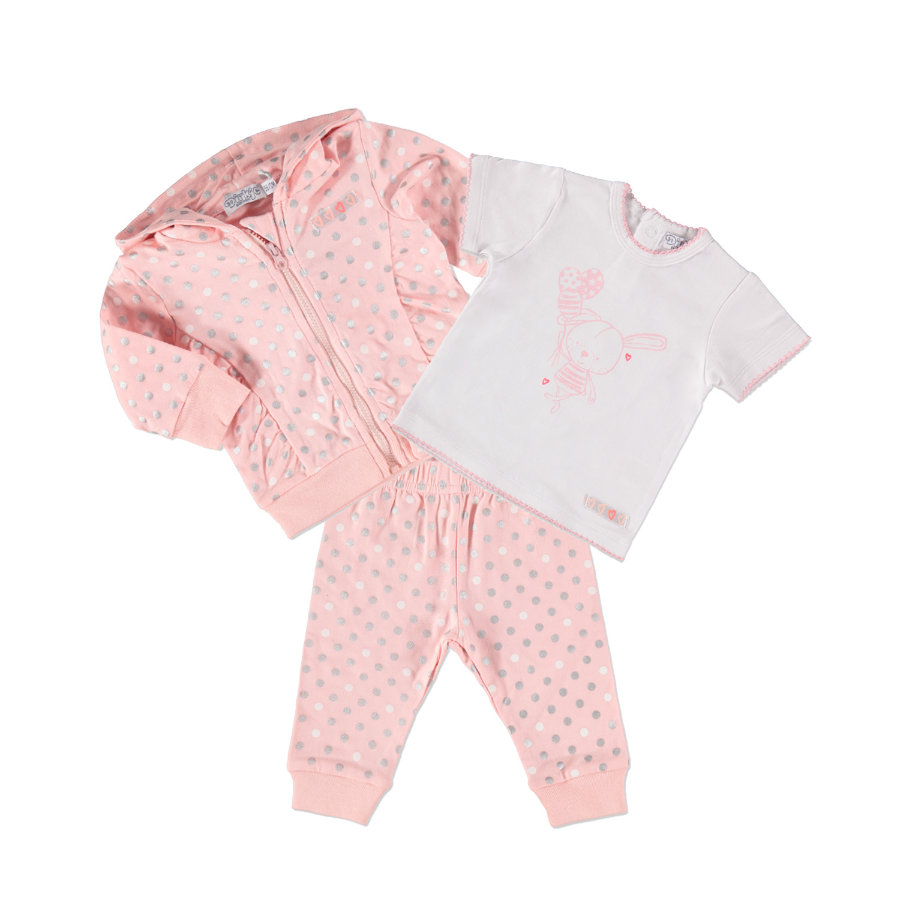 Dirkje Girls Set 3-tlg. light pink/white