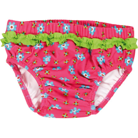 Playshoes Girls UV-Schutz Windelbadehose Blume pink