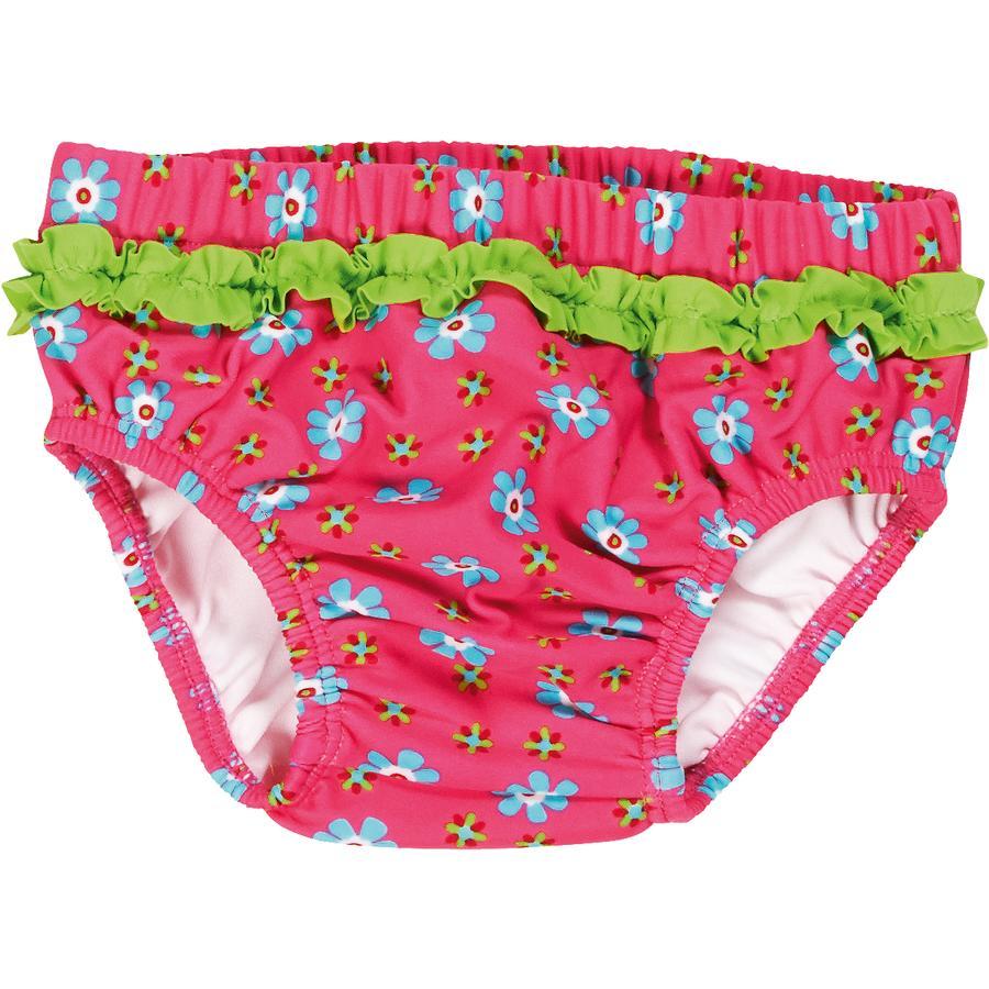 Playshoes Spodnie pieluchowe chroniące przed promieniowaniem UV różowy kolor kwiatów