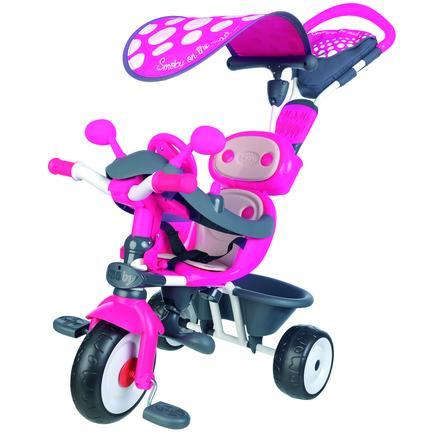 Smoby Tricycle bébé Driver Confort 4 en 1, rose